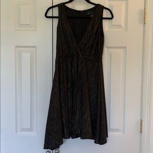 Black and Gold shimmer Kardashian Kollection dress
